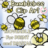 MOVEABLE Bumbleebee Classroom Theme Clip Art for Digital,