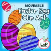 MOVEABLE Easter Egg Clip Art for Digital & Print Products