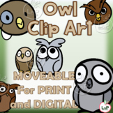 MOVEABLE Owl Classroom Theme Clip Art for Digital, Print,