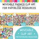 MOVEABLE Phonics Clip Art  BUNDLE