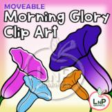 MOVEABLE Spring Morning Glory Flower Clip Art for Digital