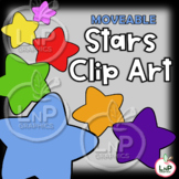 MOVEABLE Stars Clip Art for Digital & Print Products and T