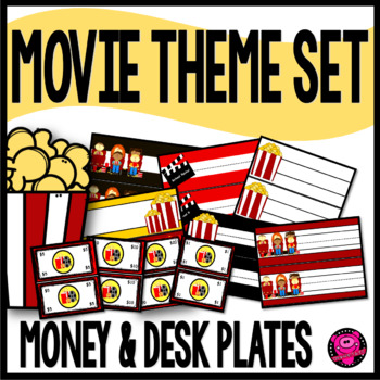 MOVIE and HOLLYWOOD THEME NAME PLATE SET