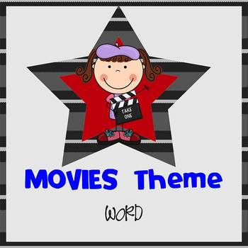 MOVIE theme - Newsletter Template - Word