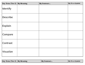 MOVIE/Film Choice Board (CCSS: Reading Lit)-Tier 2/Tier 3 Vocabulary (Any Film)