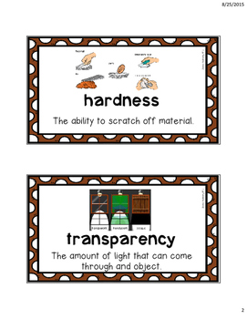 MP1 Science Vocabulary Anchor Charts