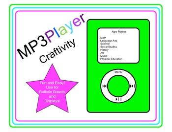 MP3 Player Craftivity