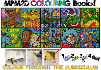 MPM2D Colouring Books - Dr. Seuss Themed (Book Versions 1 though 10)