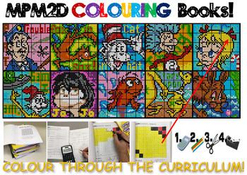 MPM2D Colouring Books - Dr. Seuss Themed (Versions 11 through 20)