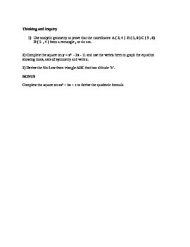 MPM2D Practice Exam