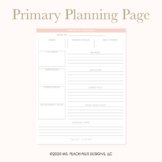 MPPD Primary Planning Page