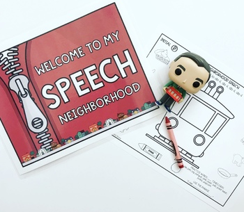 MR. ROGERS' inspired NO PREP artic worksheets SPEECH THERAPY ROOM DECOR POSTERS