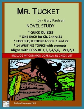 MR. TUCKET Novel Study: Quick Quizzes, Writing Prompts, & more.