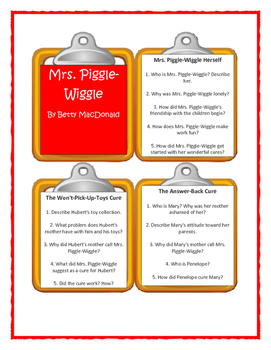 MRS. PIGGLE-WIGGLE by Betty MacDonald - Discussion Cards