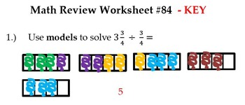 6th Grade Common Core Math Morning Work:MRW #76 - 100 BUNDLE D