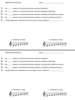 Easy World Music Pop Quiz
