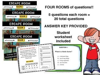 MS CCRS Science ESCAPE ROOMS - L.6.3 Standards