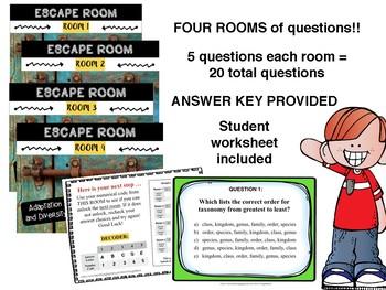MS CCRS Science ESCAPE ROOMS - L.6.4 Standards
