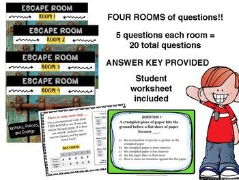 MS CCRS Science ESCAPE ROOMS - P.6.6 Standards