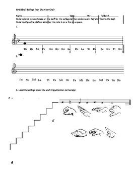 MS Choir Advanced Solfege Test