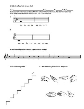 MS Choir Beginner Solfege Test