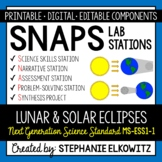 MS-ESS1-1 Solar and Lunar Eclipses Lab Stations Activity