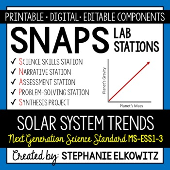MS-ESS1-3 Solar System Trends Lab Stations Activity