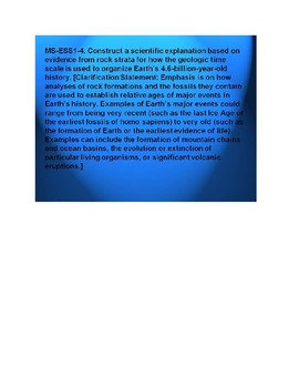 MS ESS1-4 History of Earth: Guided Video Notes