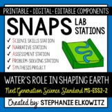 MS-ESS2-2 Water's Role in Shaping Earth Lab Stations Activity