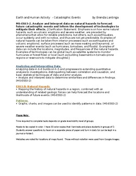 MS-ESS3-2 Earth and Human Activity  - Bundled -Catastrophi