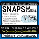 MS-ESS3-2 Earthquake and Volcano Mapping Lab Stations Activity