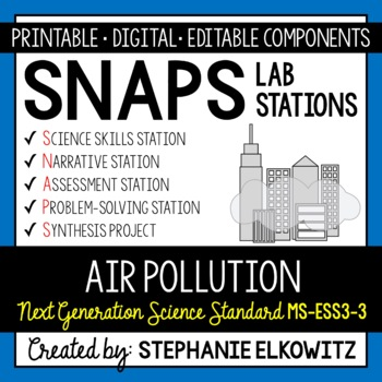 MS-ESS3-3 Air Pollution Lab Stations Activity