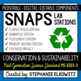 MS-ESS3-3 Conservation and Sustainability Lab Stations Activity
