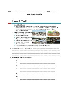 MS ESS3-3 Land Pollution