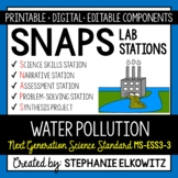 MS-ESS3-3 Water Pollution Lab Stations Activity - Printable & Digital