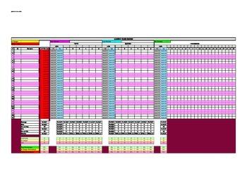 MS Excel Gradebook - Fully Programmed