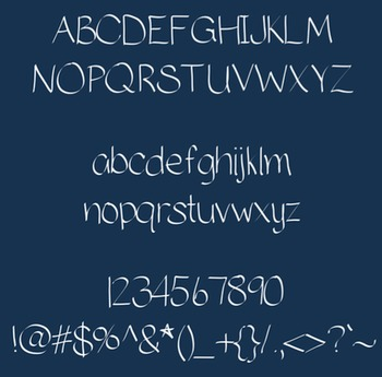 MS Fancy Print {Font for Personal Use}