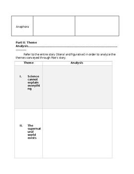 MS Found in a Bottle Analysis Worksheet/Graphic Organizer