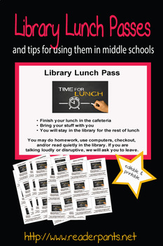 MS/HS Library Lunch Passes (editable)