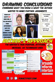 Reading Strategies Poster: Drawing Conclusions & Author's Approach,TeenFriendly