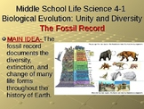MS-LS-4-1 Biological Evolution: Unity and Diversity-The Fossil Record Powerpoint