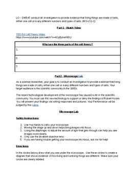 MS-LS1-1 Assessment