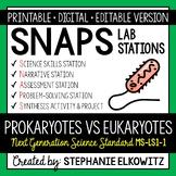 MS-LS1-1 Prokaryotes vs. Eukaryotes Lab Stations Activity