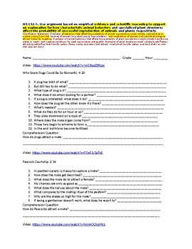 MS LS1-4 Video -Animal Behaviors for Successful Reproduction- Guided Notes