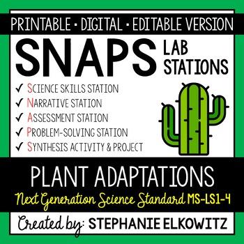 MS-LS1-4 Plant Adaptations Lab Stations Activity