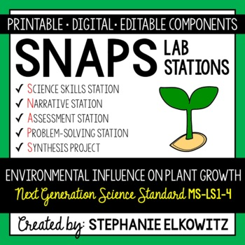 MS-LS1-5 Environmental Influence on Plant Growth Lab Stations Activity
