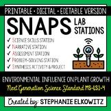 MS-LS1-5 Environmental Influence on Plant Growth Lab Stati