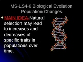 MS-LS4-6 Biological Evolution Population Changes PowerPoint