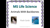 Life Science Animals With Backbones Flash Cards