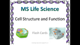 Life Science Cell Structure and Function Flash Cards
